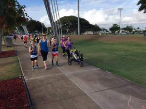 Stevi and her family at River ParkRun